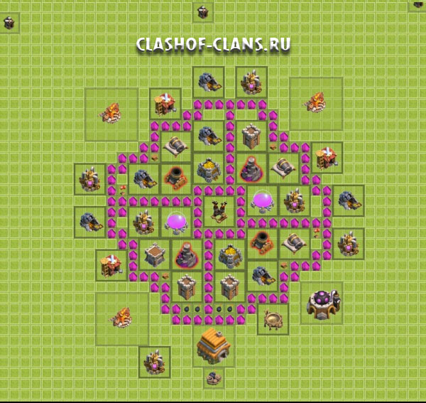 Clash of clans схемы баз