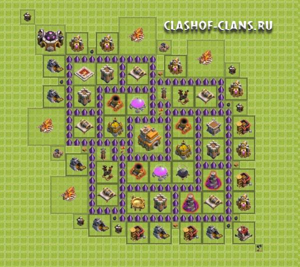 Схемы на clash of clans